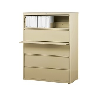 "8000 Series 42"" Wide 5-Drawer Lateral File Cabinet, Putty"