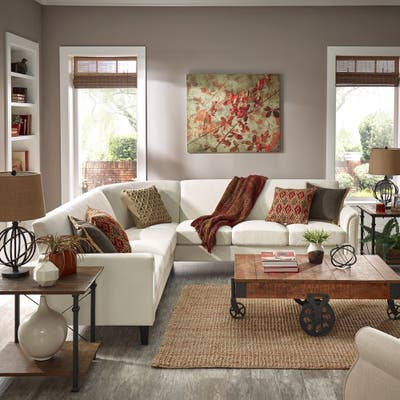 Buy White, Fabric Sectional Sofas Online at Overstock   Our ...