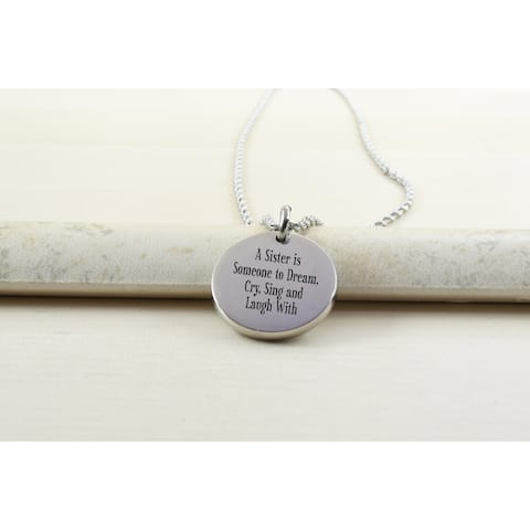 Thick Disc Necklace - A SISTER