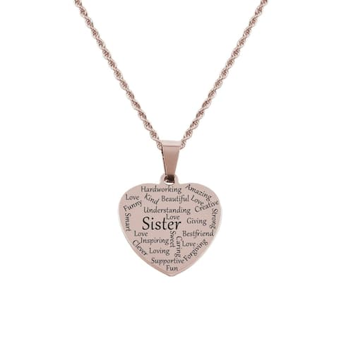 Heart Tag Necklace - Sister