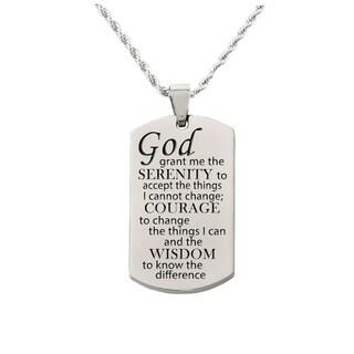 Serenity prayer Tag Necklace