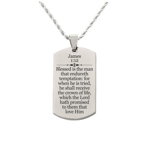 James 1:12 Tag Necklace