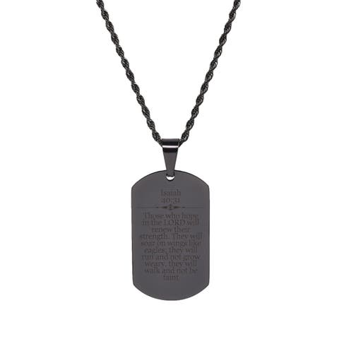 Isaiah 40:31 Tag Necklace