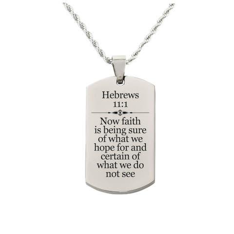 Hebrews 11:1 Tag Necklace
