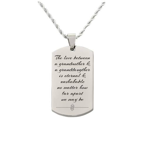 Love between Grandmother Tag Necklace