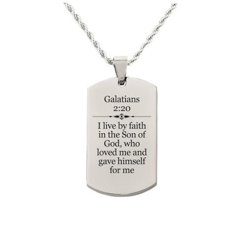 Galatians 2:20 Tag Necklace