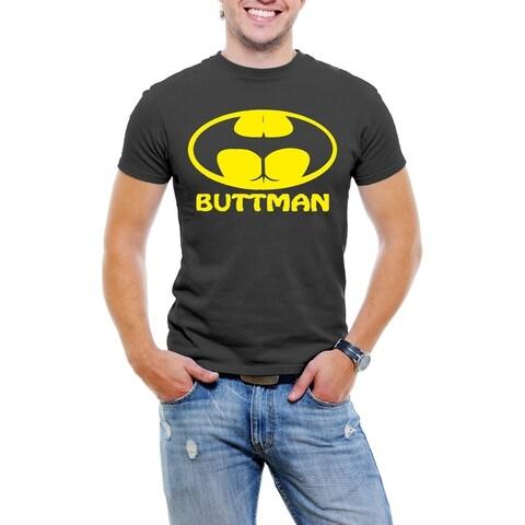 AFONiE ButtMan Fun Men T-Shirt Soft Cotton Short Sleeve Tee