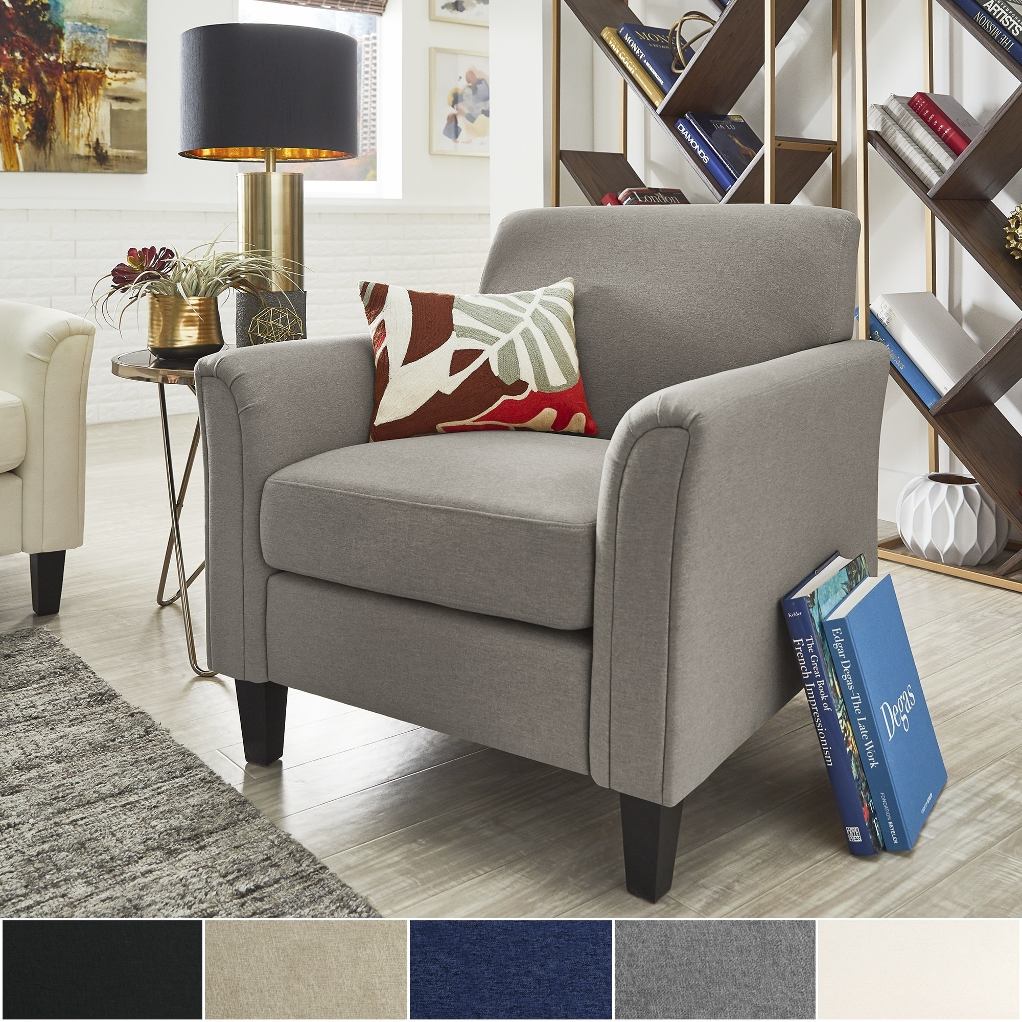 Uptown II Modern Accent Chair by iNSPIRE Q Classic (Navy)