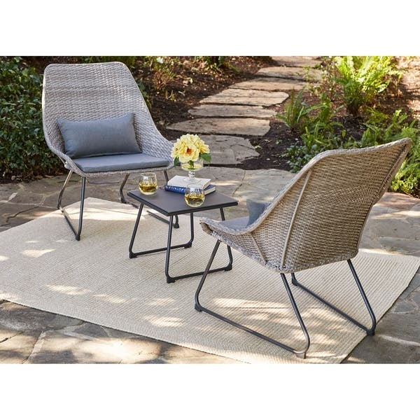 Miraculous Shop Md Furniture Montauk Grey Steel Cushioned 3 Piece Uwap Interior Chair Design Uwaporg