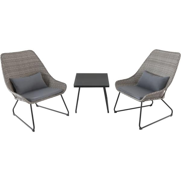 Brilliant Shop Md Furniture Montauk Grey Steel Cushioned 3 Piece Uwap Interior Chair Design Uwaporg
