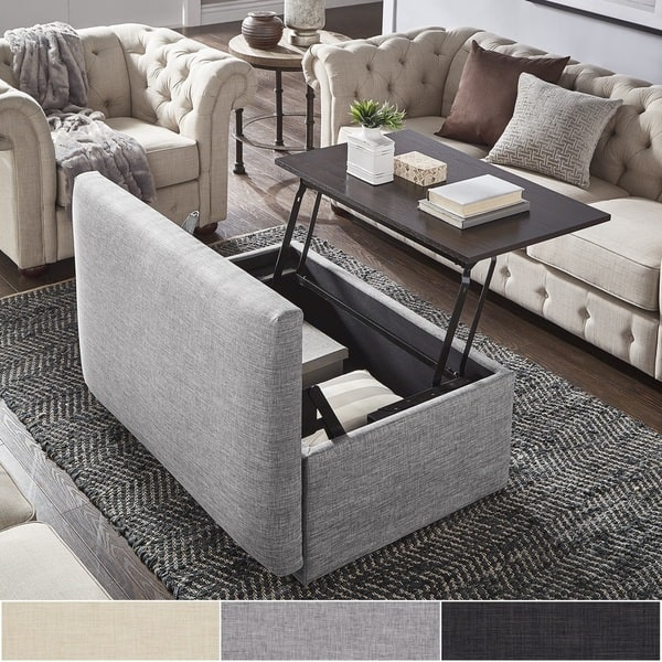 Coffee Table Ottoman.Shop Landen Lift Top Upholstered Storage Ottoman Coffee Table By