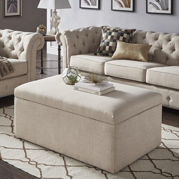 Sensational Shop Landen Lift Top Upholstered Storage Ottoman Coffee Unemploymentrelief Wooden Chair Designs For Living Room Unemploymentrelieforg