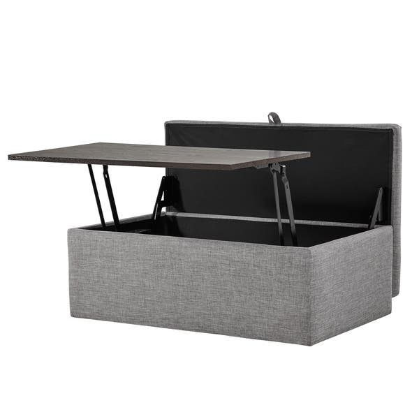 Swell Shop Landen Lift Top Upholstered Storage Ottoman Coffee Caraccident5 Cool Chair Designs And Ideas Caraccident5Info