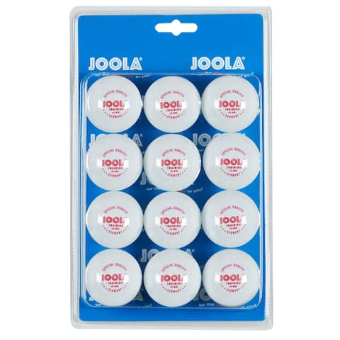 JOOLA 40mm 3-Star Table Tennis Training Balls (12 Count) - White