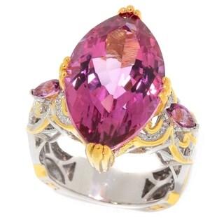 Michael Valitutti Palladium Silver Marquise Martha Rocha Color Topaz Ring