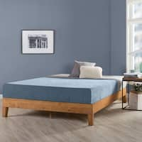 Queen Size 12 Inch Grand Solid Wood Platform Bed Frame, Natural - Crown Comfort