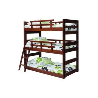 Twin Triple Bunk Bed (Triple Bunk - Chocolate - Unisex)