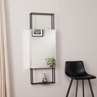 Harper Blvd Kellan Vertical Shadowbox Mirror w/ Shelf - Dark Brown