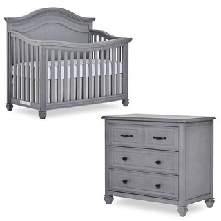 Evolur Madison Crib and 3-Drawer Chest with FREE 260 coil Mattress