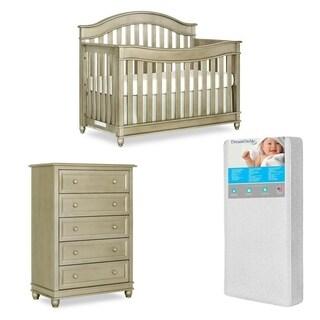 Evolur Hampton Crib AND 5 Drawer Dresser with FREE 260 coil mattress