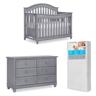 Evolur Hampton Crib AND Double Dresser With FREE 260 coil mattress