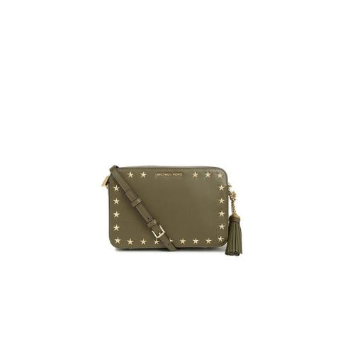 Michael Kors Ginny Star Stud Medium Leather Camera Bag