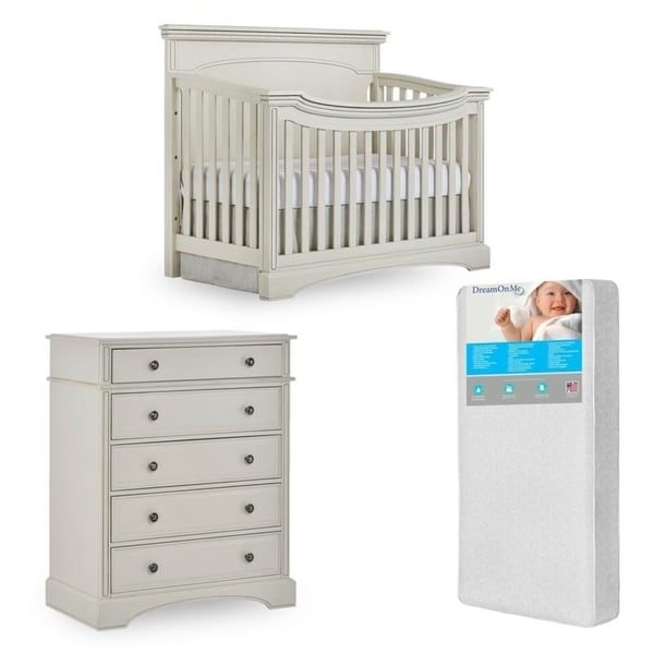 Evolur Windsor Crib and Double dresser with FREE 260 coil mattress 37266170