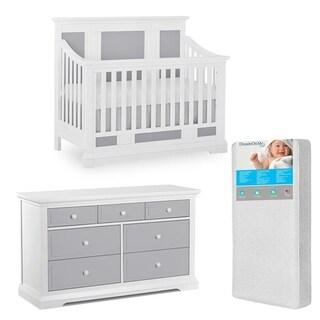 Evolur Parker Crib and dresser with FREE 260 coil Mattress