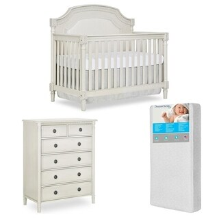 Evolur Julienne Crib and 6 Dressers chest with FREE 260 coil Mattress