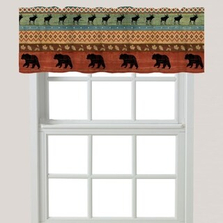 Laural Home Bear at the Lodge Window Valance