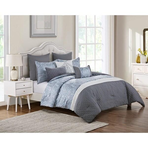 VCNY Home Waveland Jacquard Damask Comforter Set