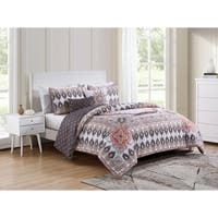 VCNY Home Valeria Reversible Medallion Comforter Set - Multi-color/blush