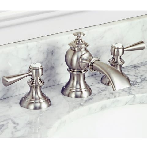 Modern Classic Widespread Lavatory F2-0013 Faucets with Pop-Up Drain in Brushed Nickel Finish