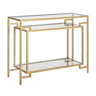 Tommy Hilfiger Gemma Console Table, Satin Gold