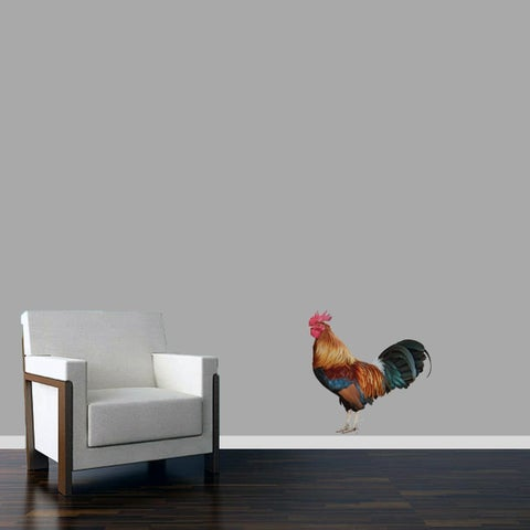 Real Life Rooster Printed Wall Decal