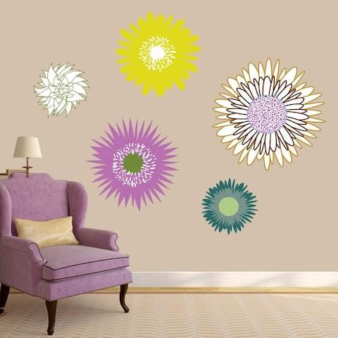 Wildflowers Printed Wall Decal Set