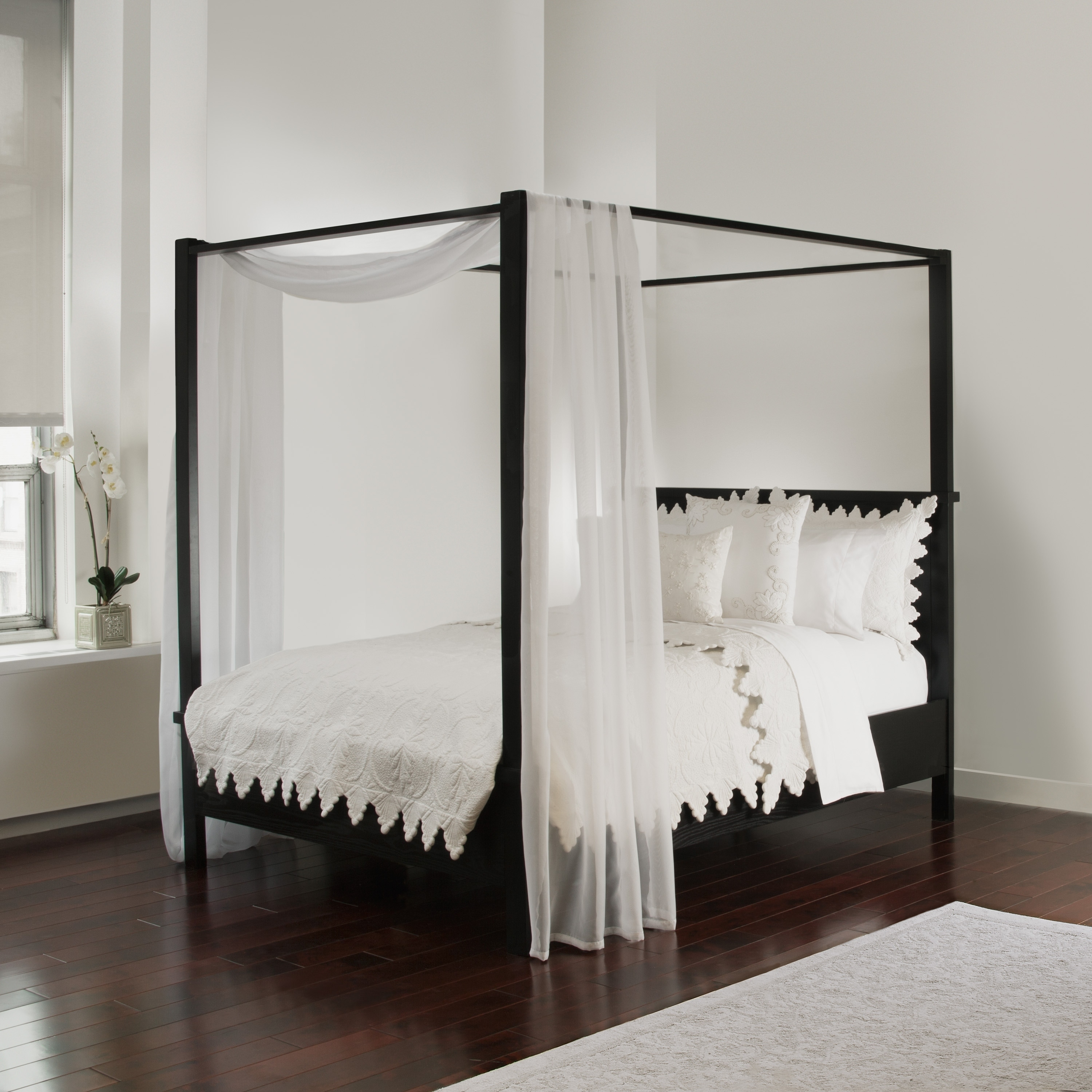 - Shop Royale Linens Bed Canopy Scarf - Overstock - 22378433