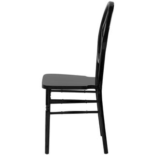 Veronique Series Wood Stackable Chair Black