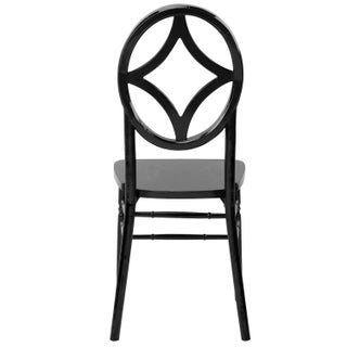 Veronique Series Wood Stackable Chair Black