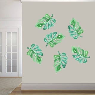 Tropical Branches Printed Wall Decal Set