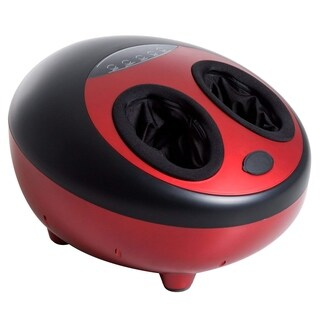 HomCom Multi Function Relaxing Kneading Heated Shiatsu Calf Foot Massager Red