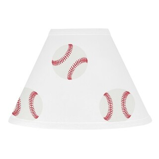 Sweet Jojo Designs Red and White Baseball Patch Sports Collection Lamp Shade