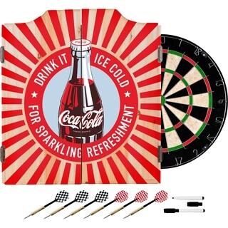 Coke Dart Cabinet Set - Sparkling Refreshment Bottle Art