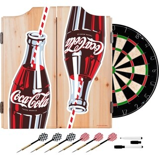 Coke Dart Cabinet Set - Twin Bottles with Straw Bottle Art
