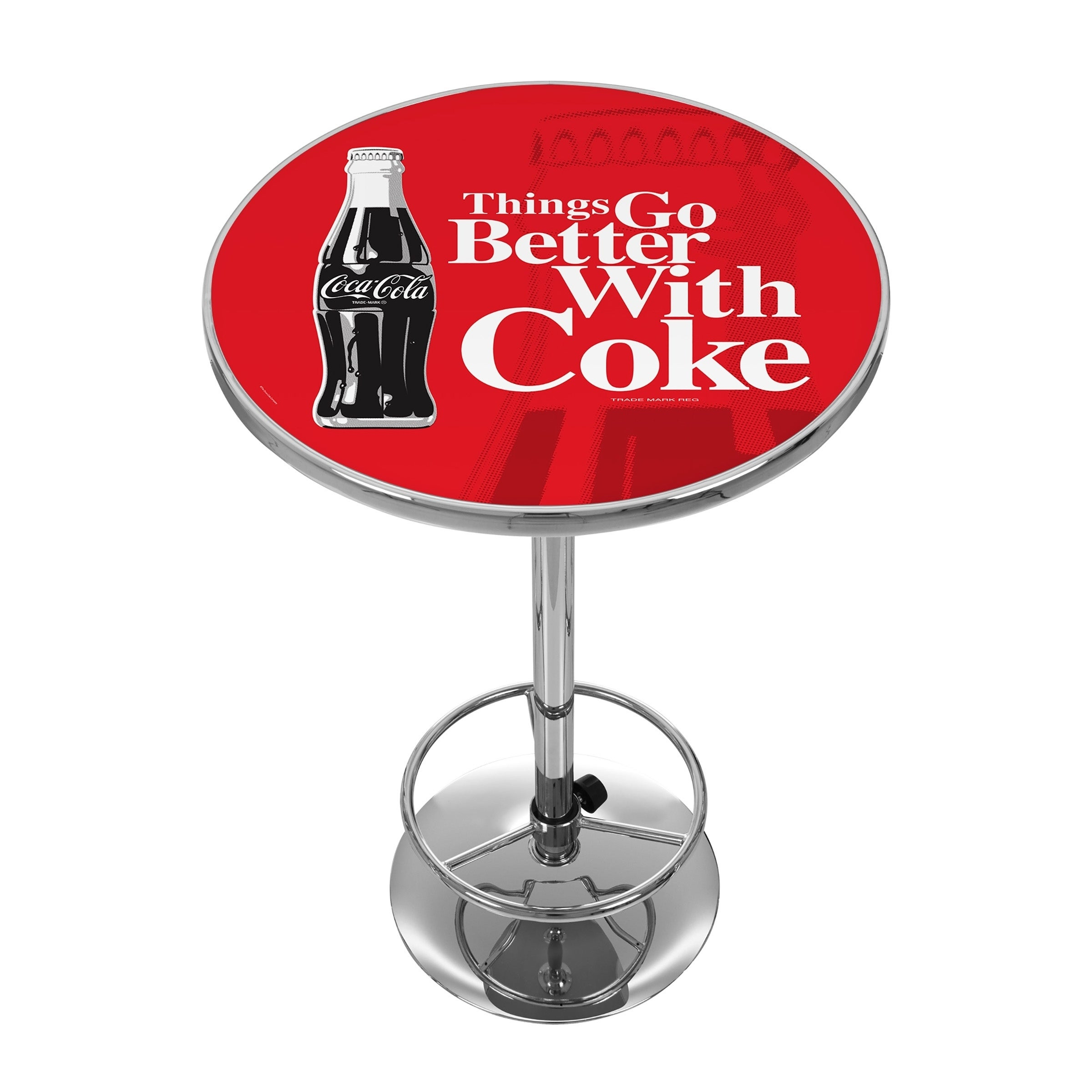 Coke Chrome Pub Table - Coke Bottle Art