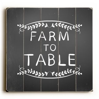 Farm To Table - Black  Planked Wood Wall Decor by OBC