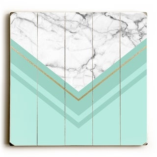 Haven Marble - Mint  Planked Wood Wall Decor by OBC