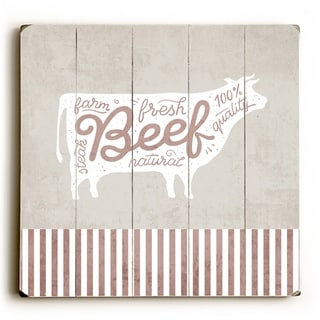 Fresh Beef - Tan  Planked Wood Wall Decor by OBC