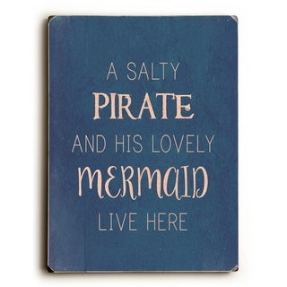 Salty Pirate Lovely Mermaid -  9x12 Solid Wood Wall Decor by OBC - 9 x 12