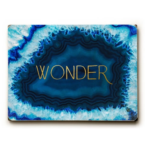 Geode Wonder Gold - Blue 9x12 Solid Wood Wall Decor by OBC - 9 x 12